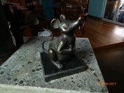 """Eckhart the Mouse. 10 pieces. 2011. Charlottetown P.E.I. Bronze, stone."